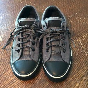 Converse All-Star black and gray sneakers size 5